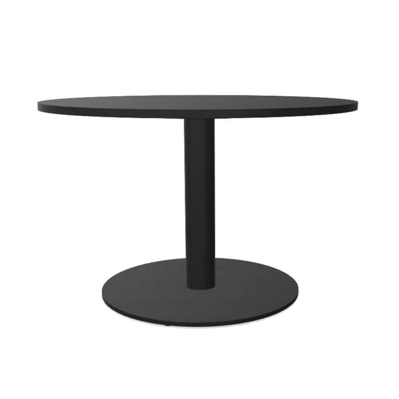 Tabula Tar-10 Coffee Table, Ø60cm, Black Laminate Top / Black Base