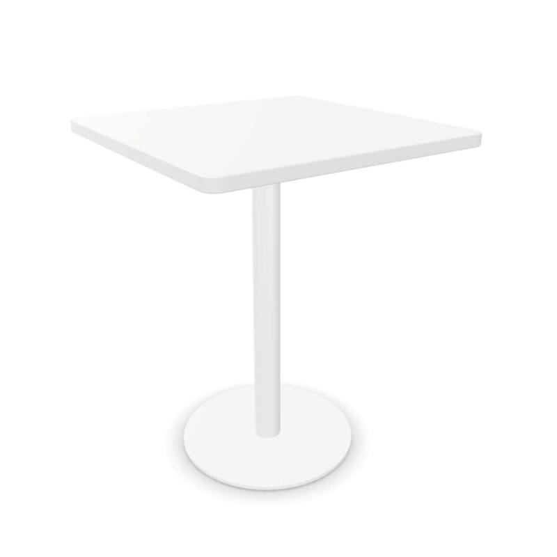 Tabula Tar-10 Table, 60x60cm, White MFC Top / White Base
