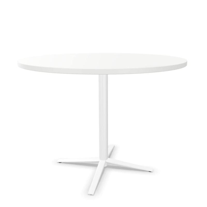 Tabula Tar-20 Table, Ø100cm, White MFC Top / White Base