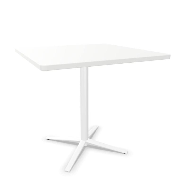 Tabula Tar-20 Table, 80x80cm, White MFC Top / White Base
