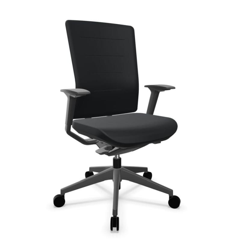 TNK Flex 50 Task Chair, Black Backrest and Seat / Black Base