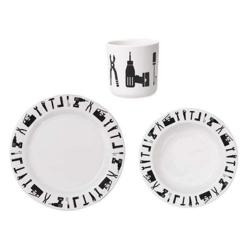 Tool School Melamine Set, White