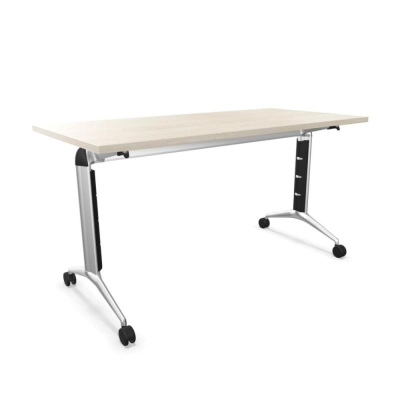 Trama 80 Flip Top Desk, 140x67cm, Lime Oak MFC / Silver Frame