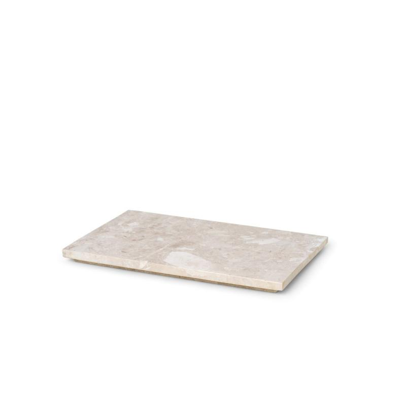 Tray for Plant Box, Marble, Beige