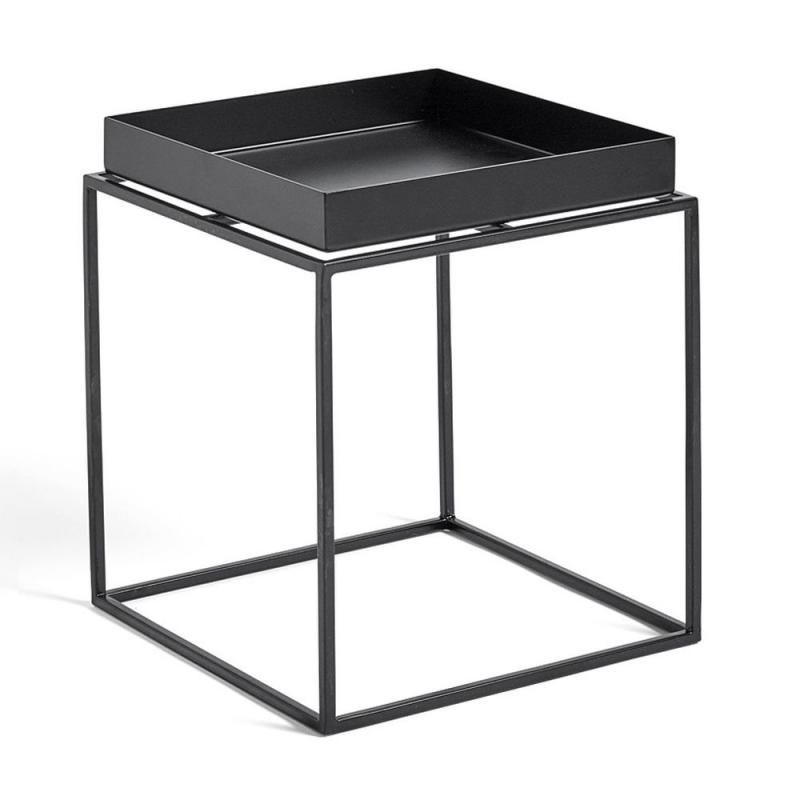 Tray Side Table, S, Black