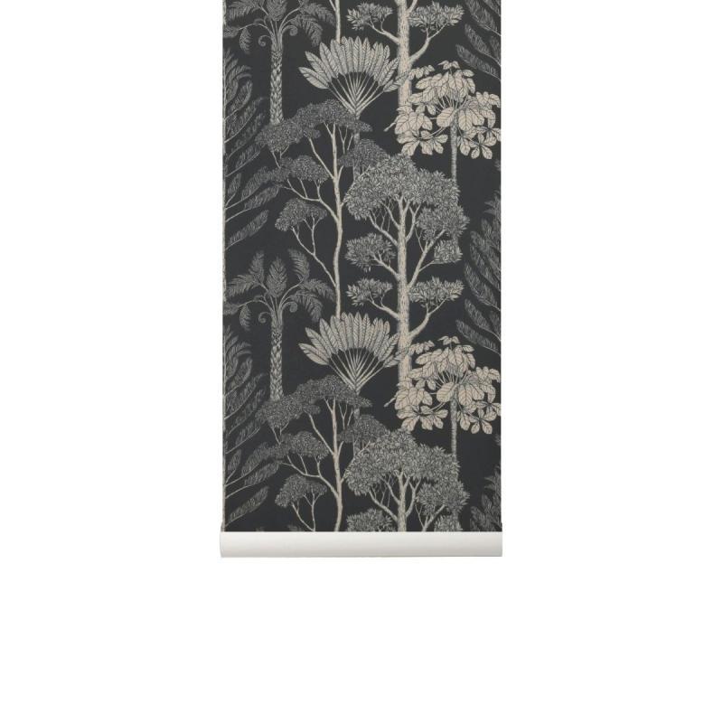 Katie Scott Wallpaper, Trees, Petrol