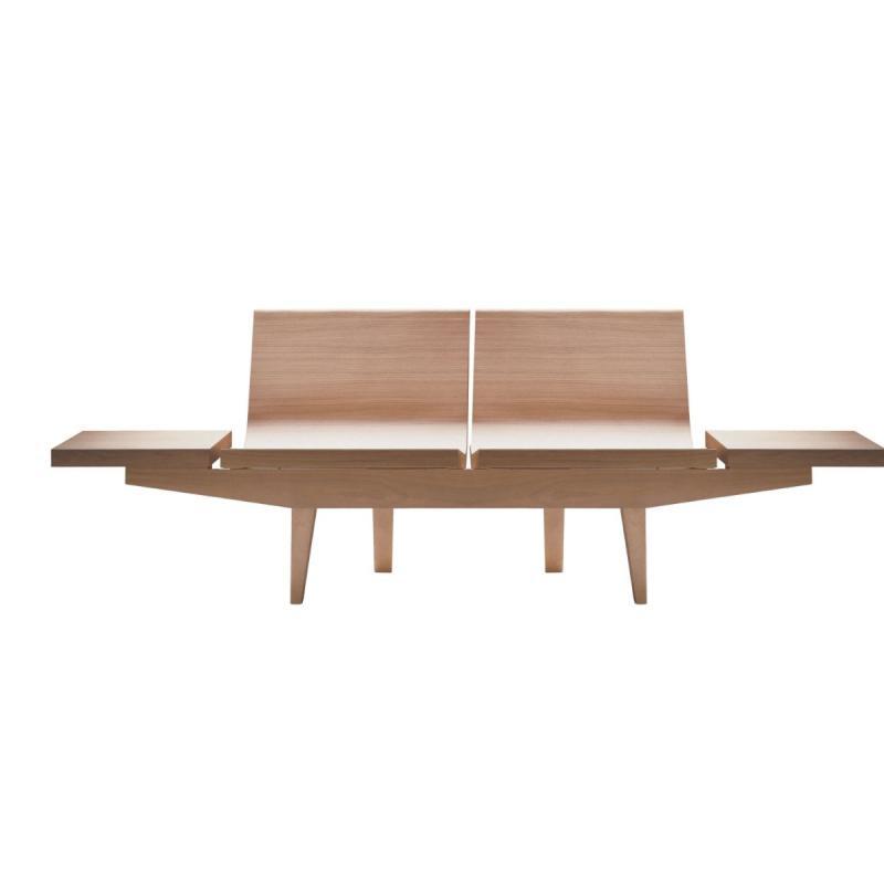 Trienal Bench, 2-Seater, Oak / Beech