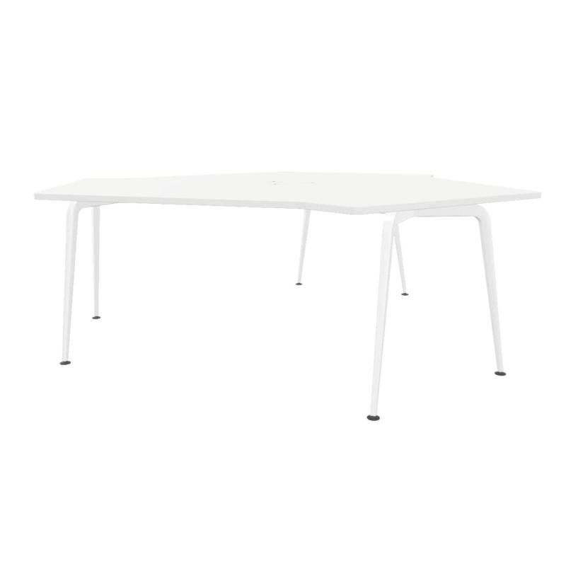 Twist GEN 100 Triple Desk, White MFC Table Top / White Legs