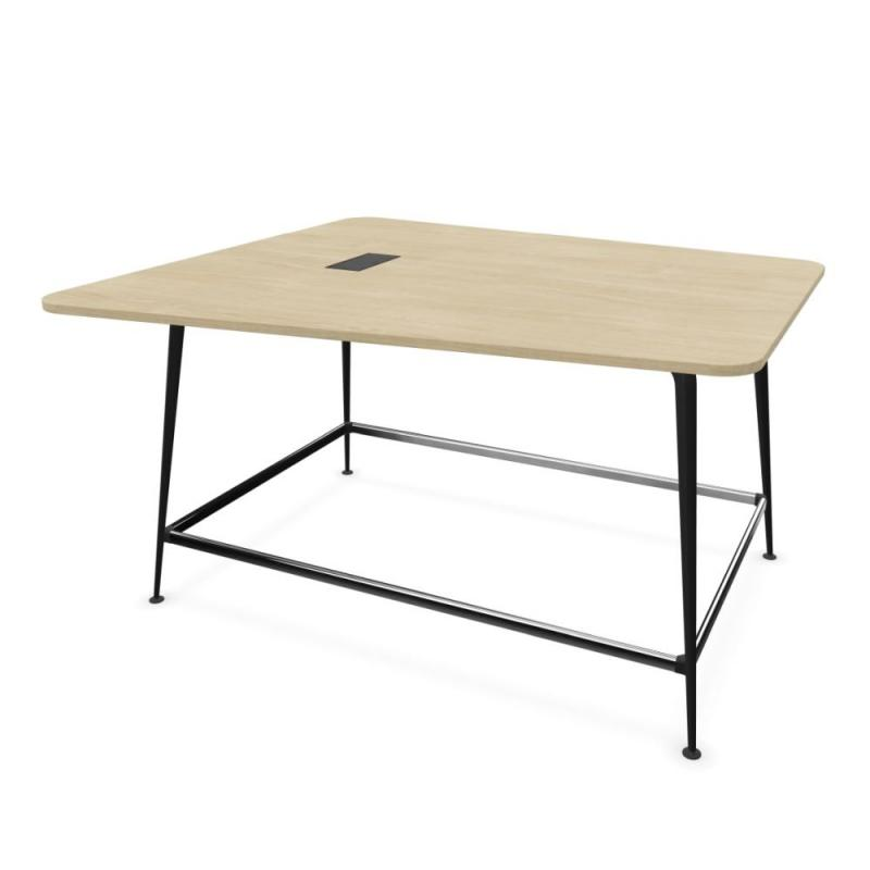 Twist Video Conference Table, Lime Oak MFC Table Top / Black Beam & Legs