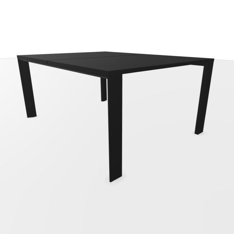UM Bench Table, 160x120cm, Black Laminate Top / Textured Black Frame