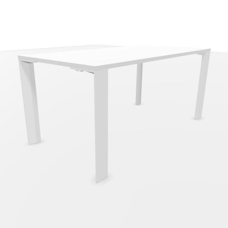 UM Desk, 160x80cm, White Laminate Top / White Frame