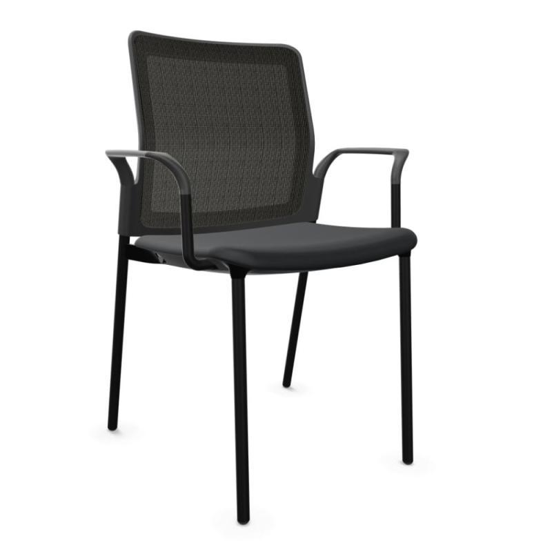 Urban Plus 30 Chair, Black Mesh Back & Seat / Black Frame