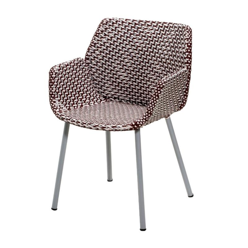 Vibe Chair, Light Grey / Bordeaux / Dusty Rose