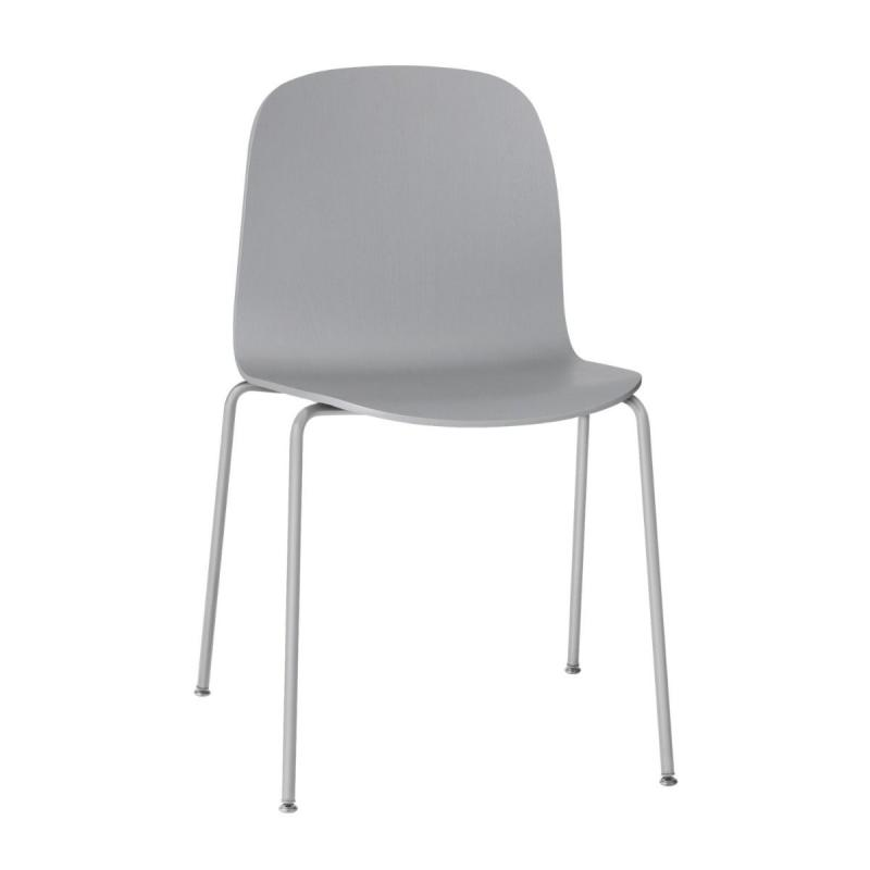 Visu Chair, Tube Base, Grey