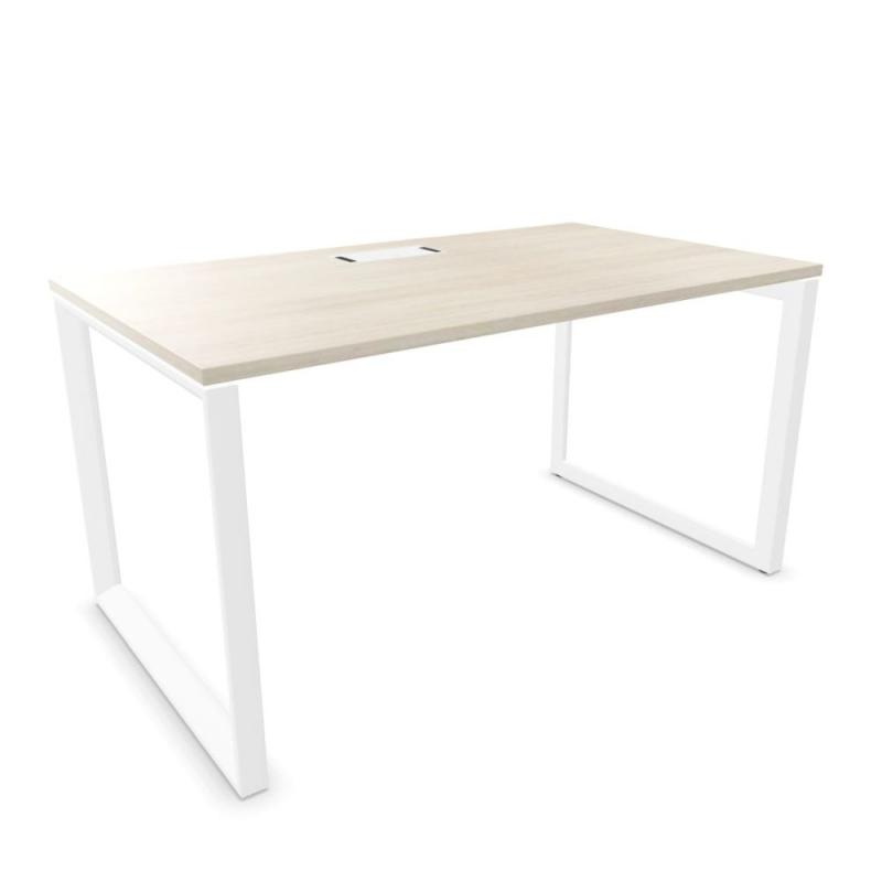 Vital Plus 300 Desk, 140x80x74cm, Lime Oak MFC / White Frame