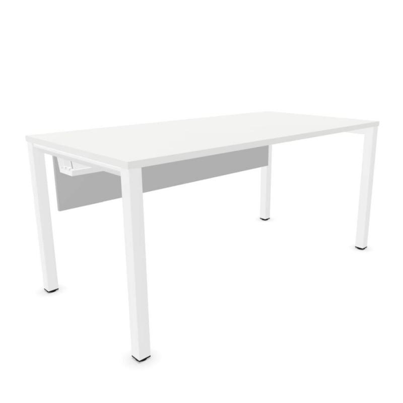 Vital Pro Desk, 160x80cm, With Modesty Panel, White MFC / White Frame