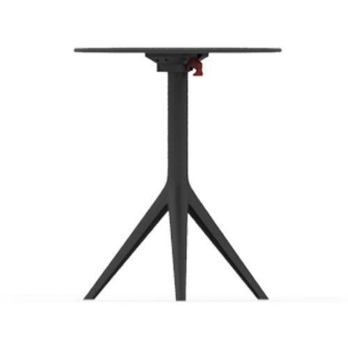 Mari-Sol Folding Table, Ø69cm, White HPL Top / Black Base