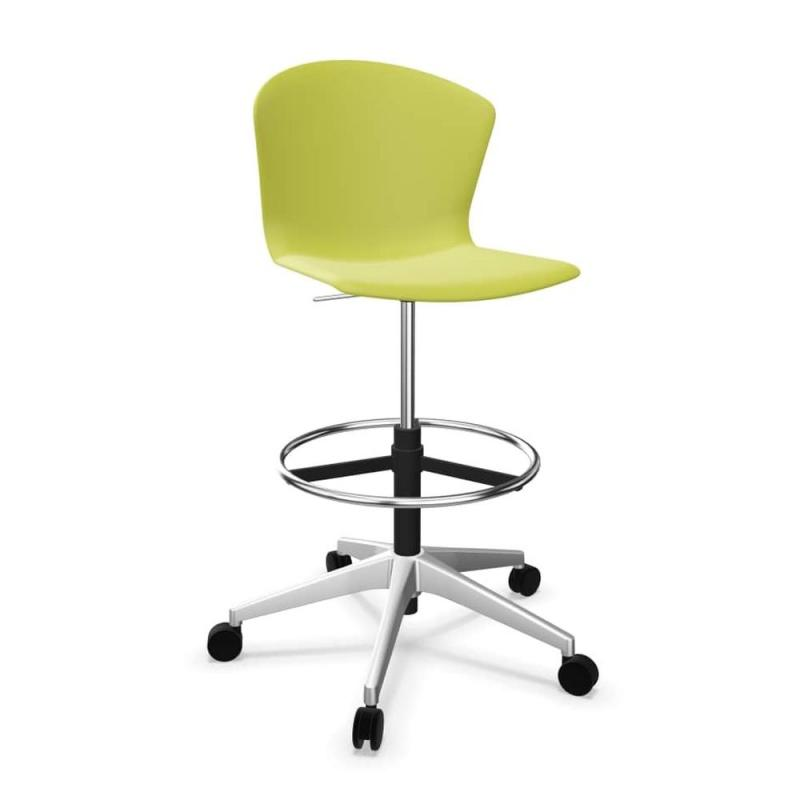 Whass Draughstman Chair, Lime Seat / White Metal Base