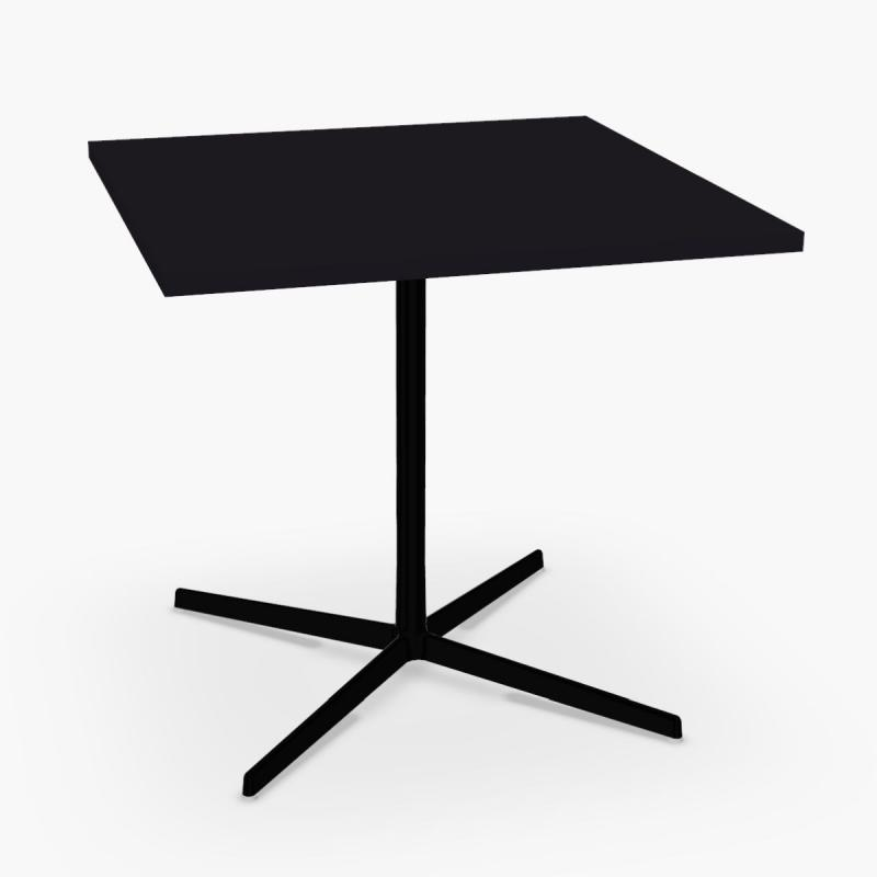 Wim Table, Black Fenix Top / Black Base