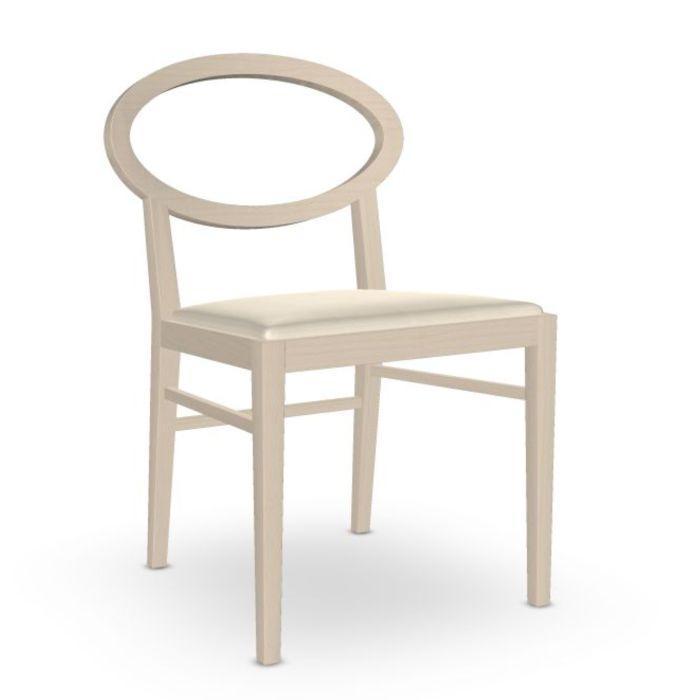 Zarina Chair, White Upholstery / Beech Frame